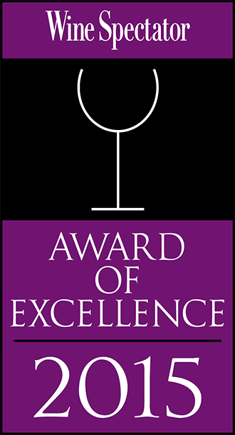 2015 award of excellence from wine spectator