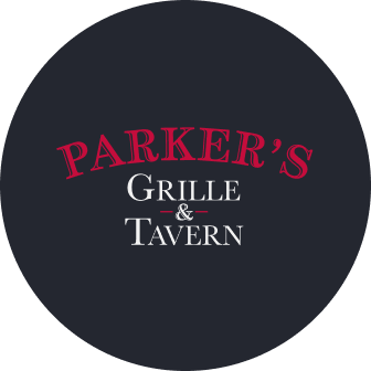 parker's grille and tavern branding in black circle